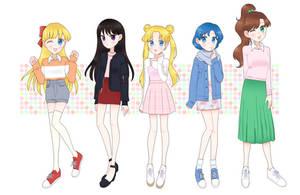 Sailor senshi by seburin