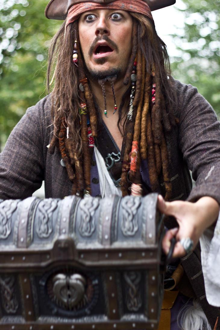 Caption Jack Sparrow on the run by Myrine86