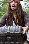 Caption Jack Sparrow on the run