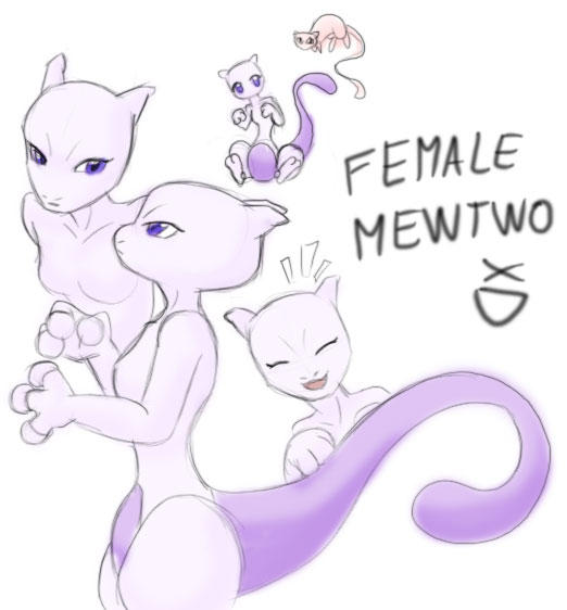 mewtwo wallpaper. Female Mewtwo XD by ~EvilKitty3 on deviantART
