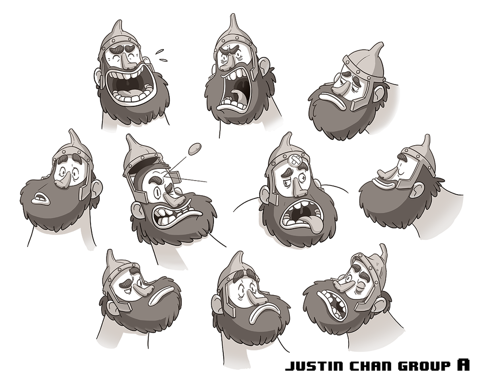 Character Design Expression : Character expression sheet by itsjustin on deviantart