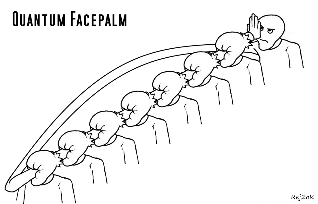 One Line Art Facepalm : Quantum facepalm by rejzor on deviantart