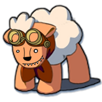 Honey Badger Sheep with Goggles