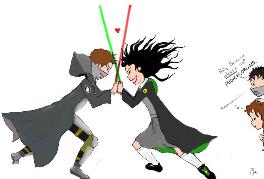 HPatMoR lightsaber duel by MoonrakerJay