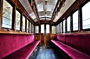 Inside former Kyoto municipal tram No.27 by Furuhashi335