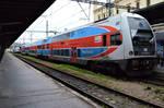 Double Decker Commuter Train in Prague