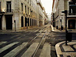 Silent street in Lisbon by Furuhashi335