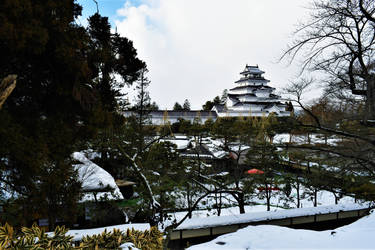 Tsurugajou in Winter by Furuhashi335