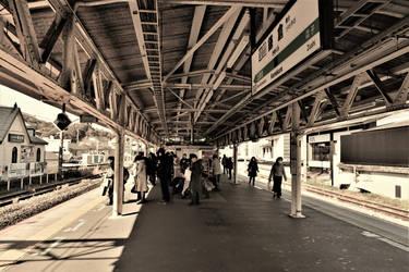 Platform of Kamakura Station by Furuhashi335
