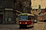 Prague Tram in Evening by Furuhashi335