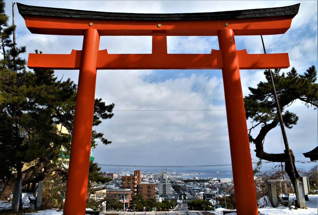 Hakodate city from Torii