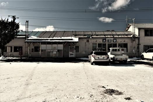 An old railway station in Hokkaido