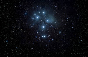 M-45 The Pleiades Cluster Widefield by insomniaworks