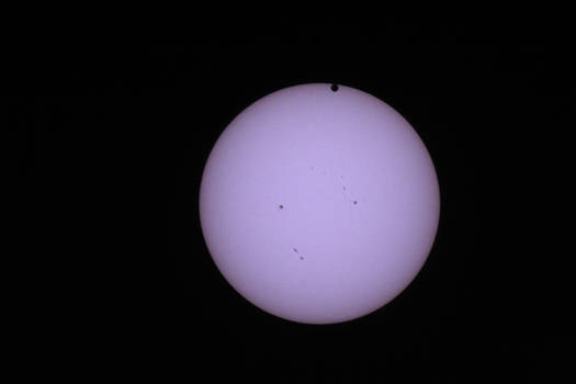 Second Contact  Transit of Venus 2012