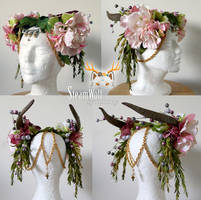 Custom headpiece for Hippie Rose by ctrlaltvamp