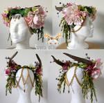 Custom headpiece for Hippie Rose