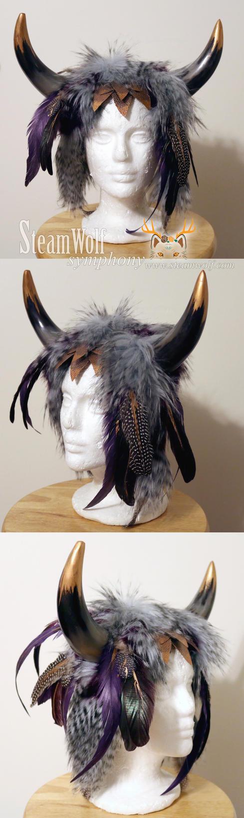 Viking Horn Headdress by Vampire--Kitten