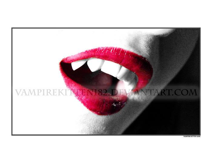 Fang Exposure by Vampire--Kitten
