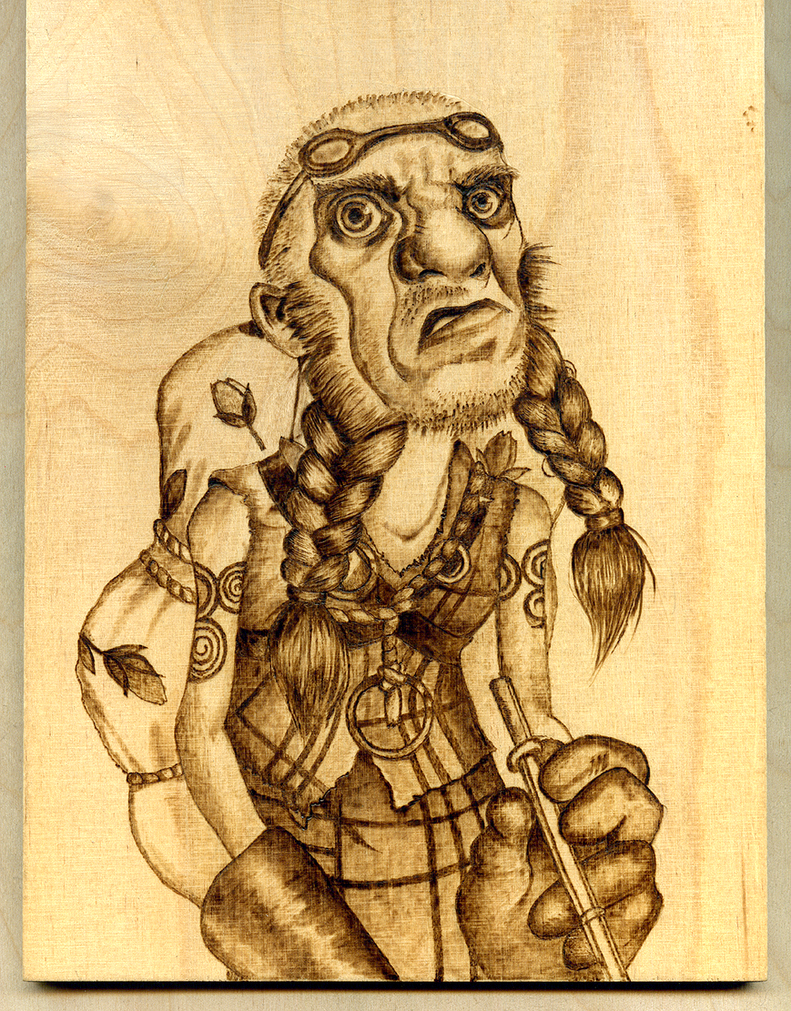 Hamish - Woodburning by Eskarine