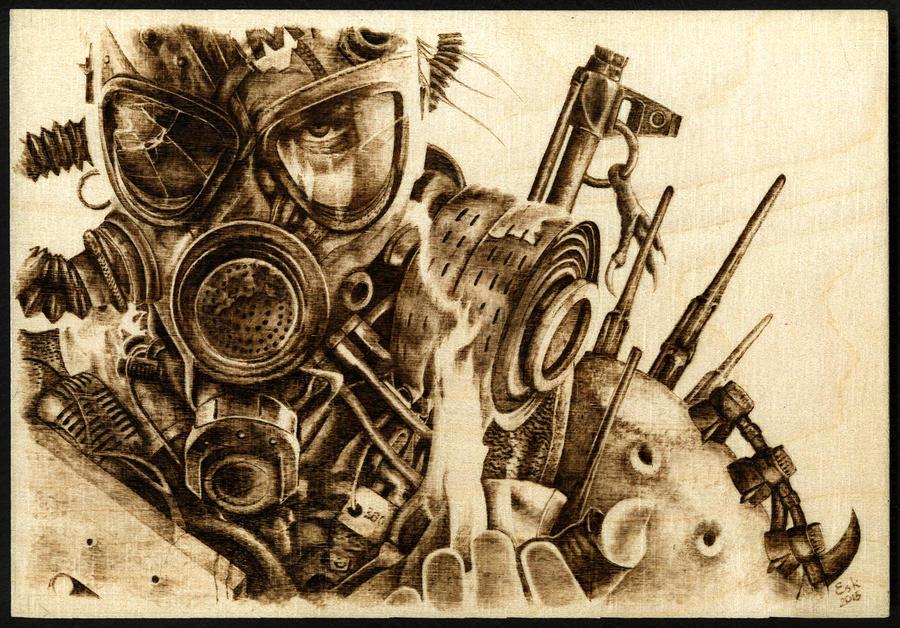 Metro related - Woodburning by Eskarine
