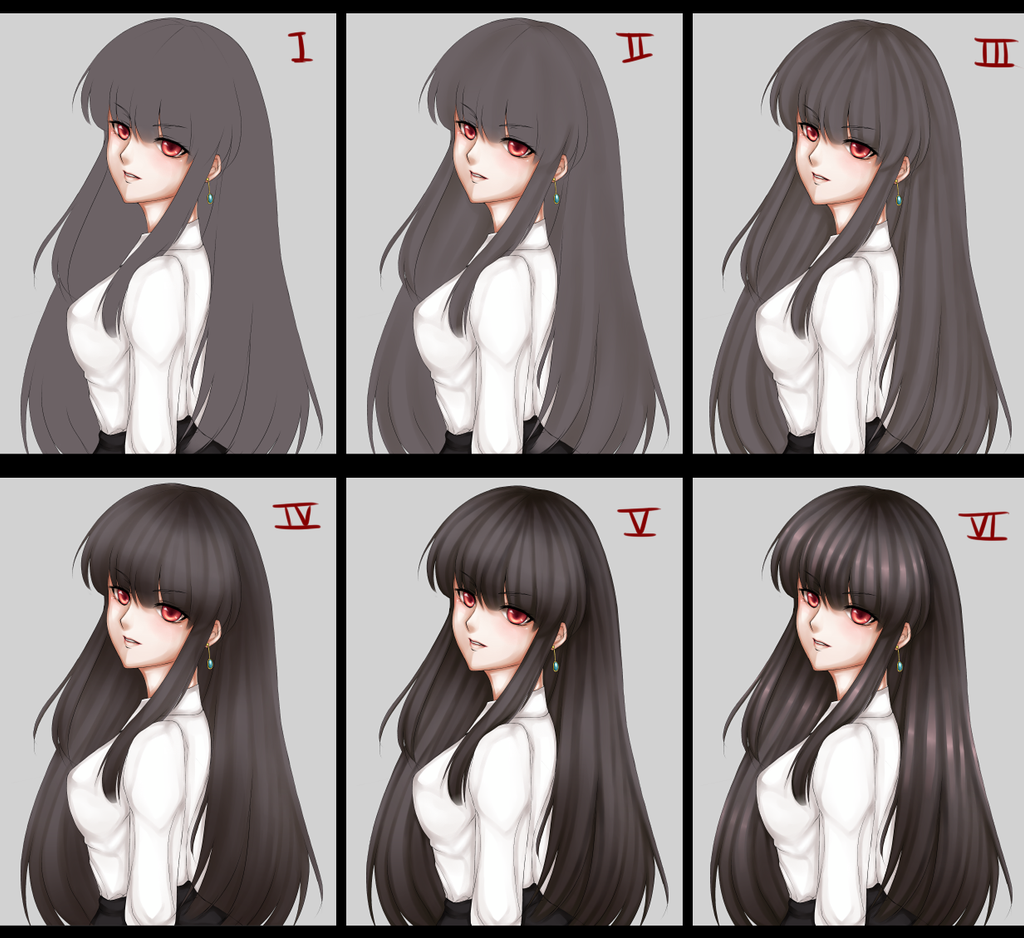 Anime Hairstyles Coloring Images | colorimage.website