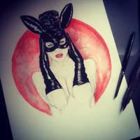 half moon - watercolor