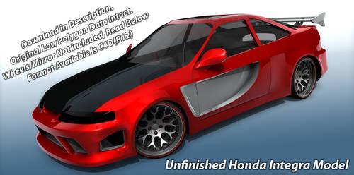 Free Unfinished Honda Integra Model