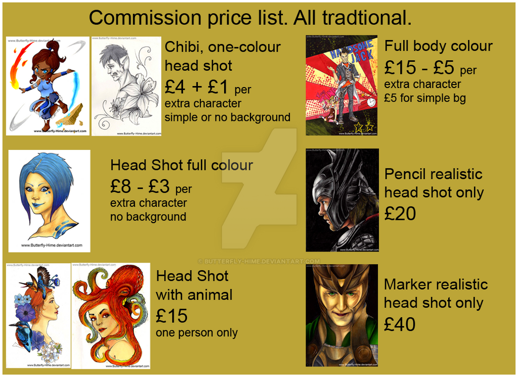 Commission price list. by Butterfly-Hime