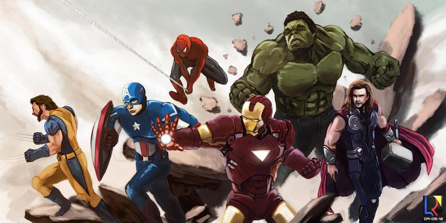 Avengers by Kanukling