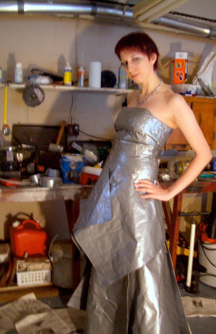 Duct Tape Dress Full View by panandora