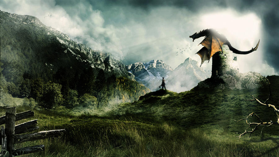 Dragon Scene By Fa11enG0d On DeviantArt