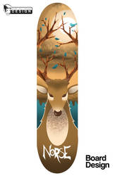Norse Skateboards (Deer) by GreenYeti