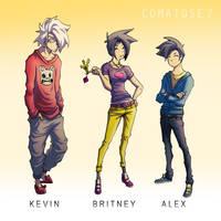 Comatose 7 Characters by GreenYeti