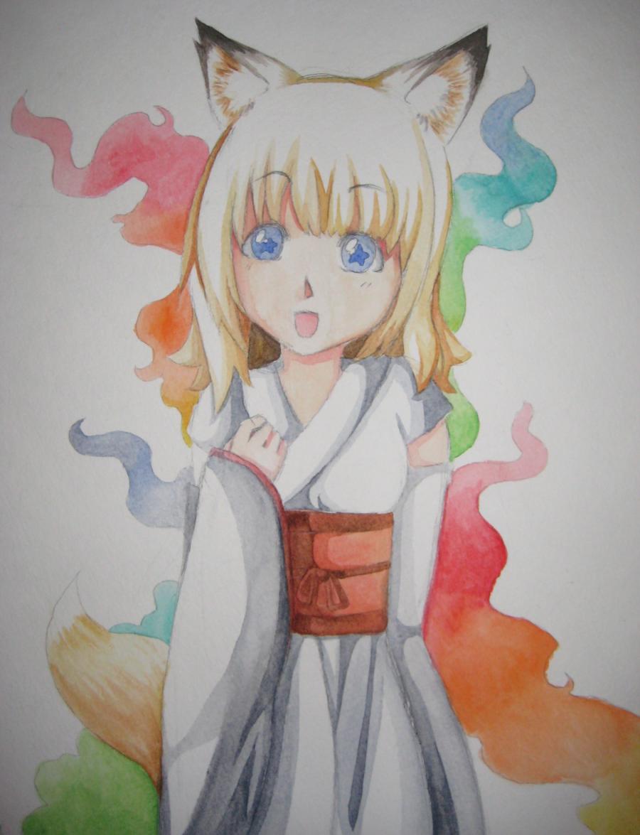 Fox Girl Drawing My Anime fox girl draw...