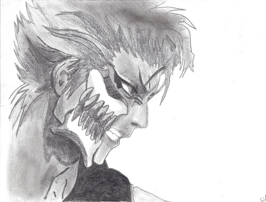 My grimmjow sketch by angelbeatshisako050