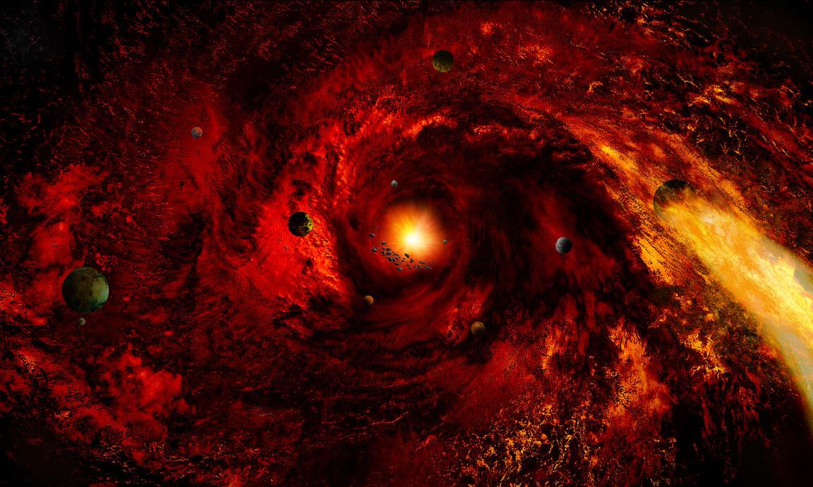 space nebula red - photo #10