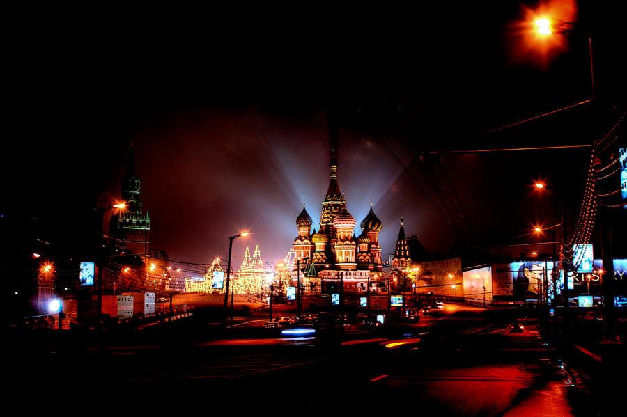 Ночная Москва by moitisse
