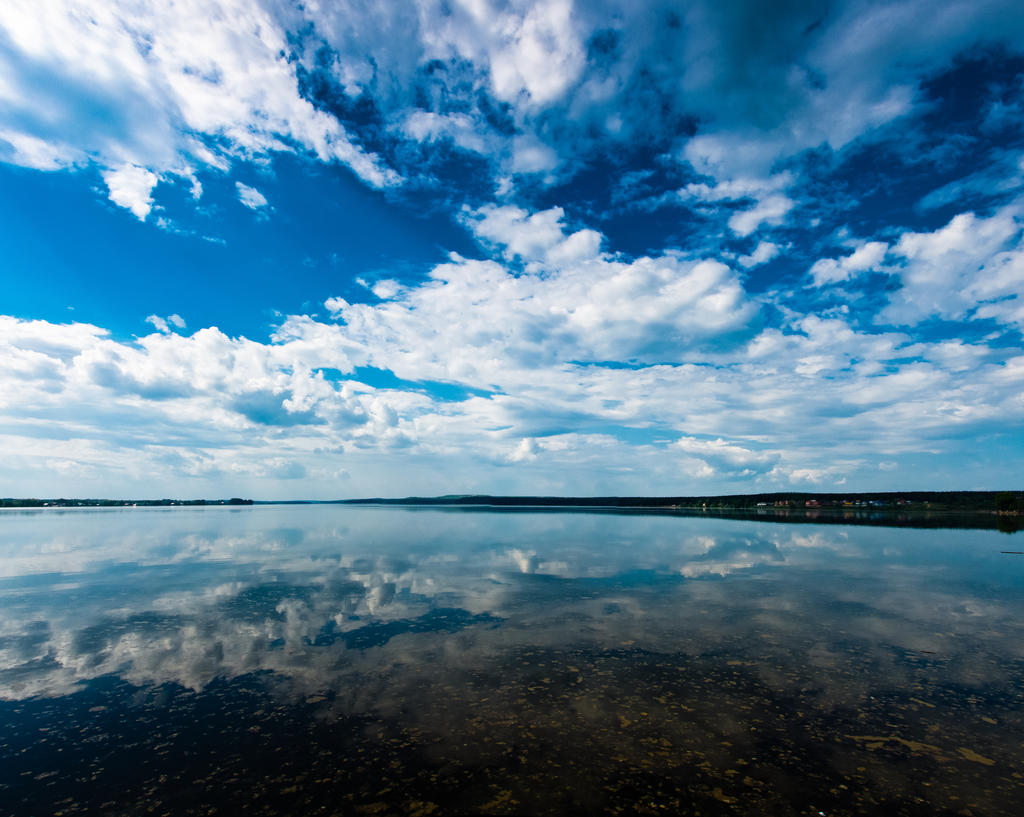 clouds over water by moitisse