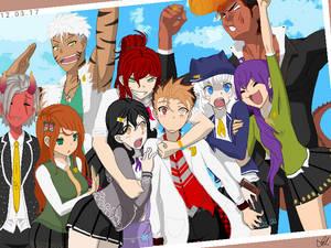 Tahba and his ragtag schoolmates (DnD + Anime)