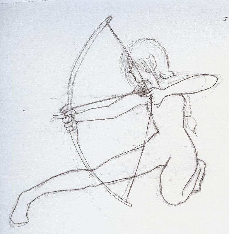 The gallery for --> Anime Girl With Bow And Arrow Base