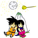 Goku and chichi by Isuk