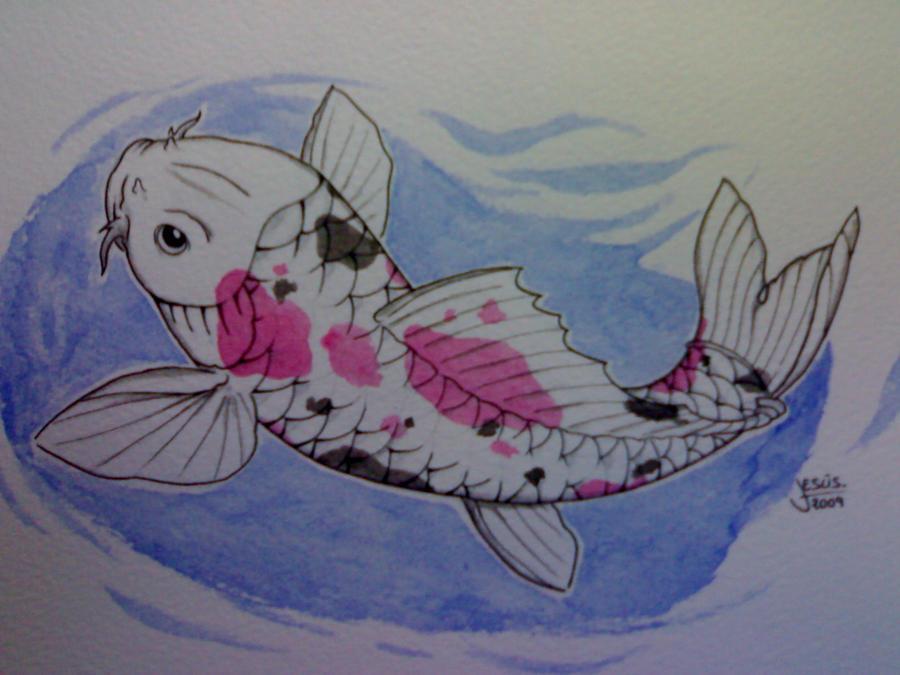 Watercolor Koi Fish koi fish watercolor by gsus86m