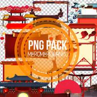 Asian style PNG pack. by meromerowanko