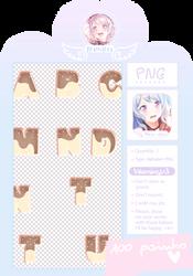 Ice Cream Alphabet ( PNG ) by meromerowanko
