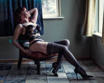 Bustier n Stockings v.1a by Von Trapp Photo 2018. by VTphoto