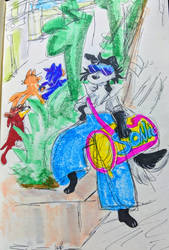 dancer dog sonic fan sonic pal