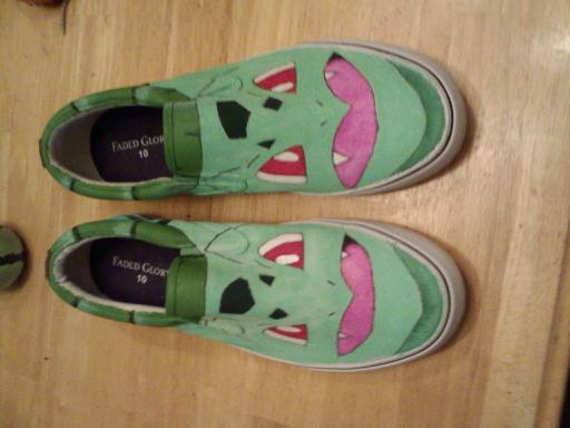 Bulbasaur Shoes by matisser
