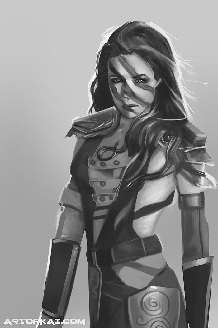 Study 03 Aela the Huntress by BaconKai on DeviantArt