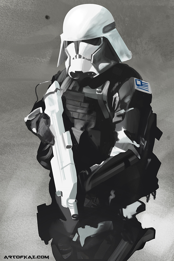 Storm trooper study by BaconKai