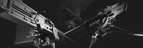 High Poly M2 .50 Cal Machine Gun 2